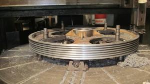 обработка шкива D1800 мм