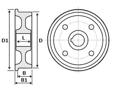 изготовление колеса вагонеток по чертежам