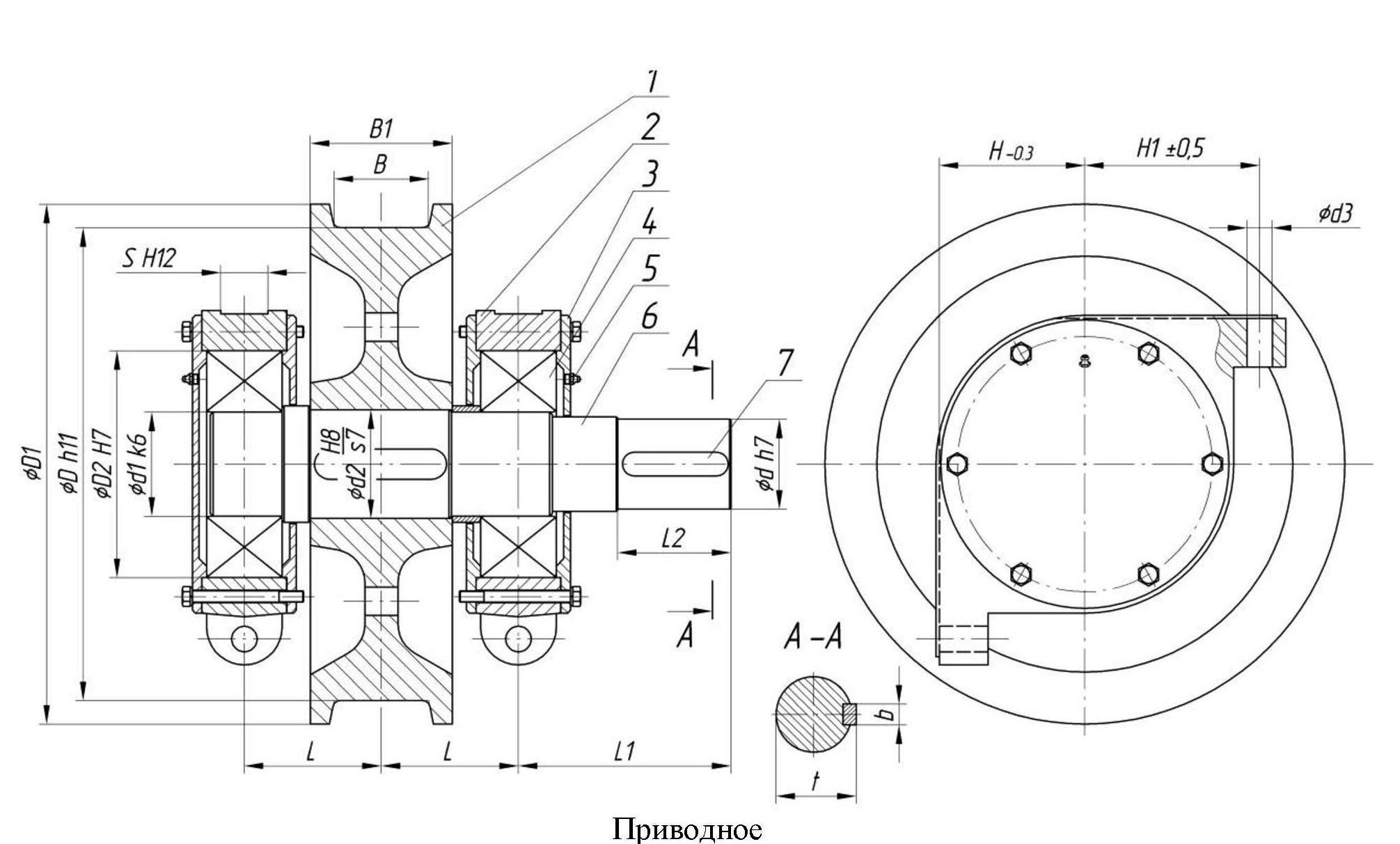 колесо приводное крановое в сборе