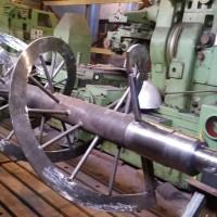 Фотография шнека на этапе производства