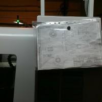 Фотография чертежа заглушки на рабочем месте
