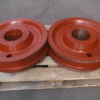 Колеса крановые двухребордные К2Р пара