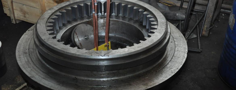 Фотография зубчатой ступицы (ф1080мм, модуль 16 и 2)