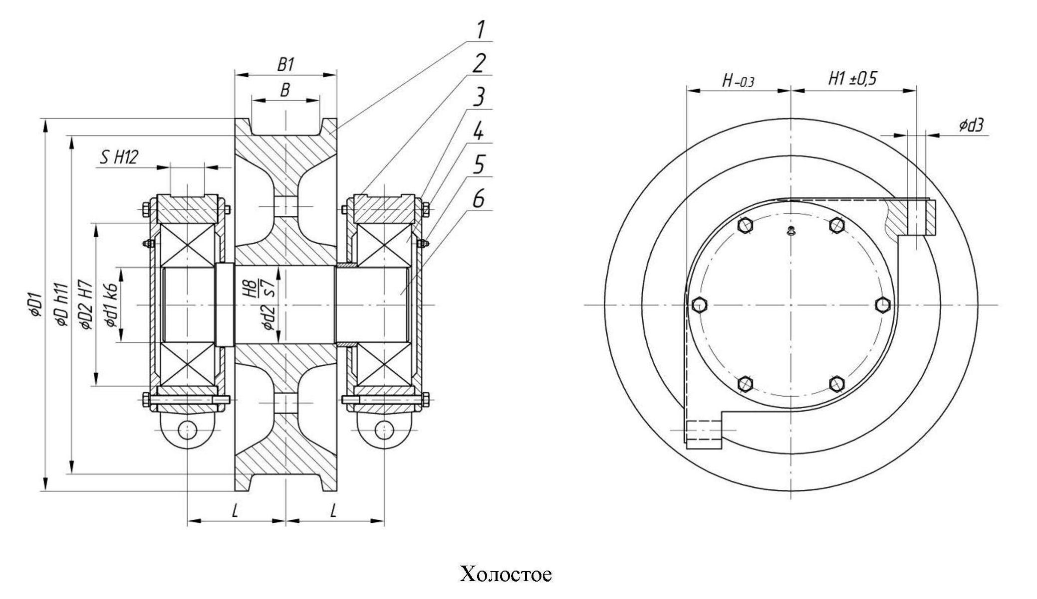 чертеж колеса ходового кранового